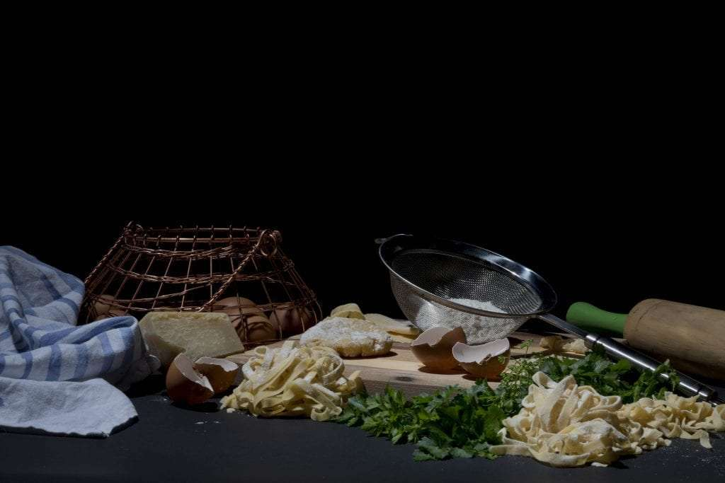 emotive food pasta side view