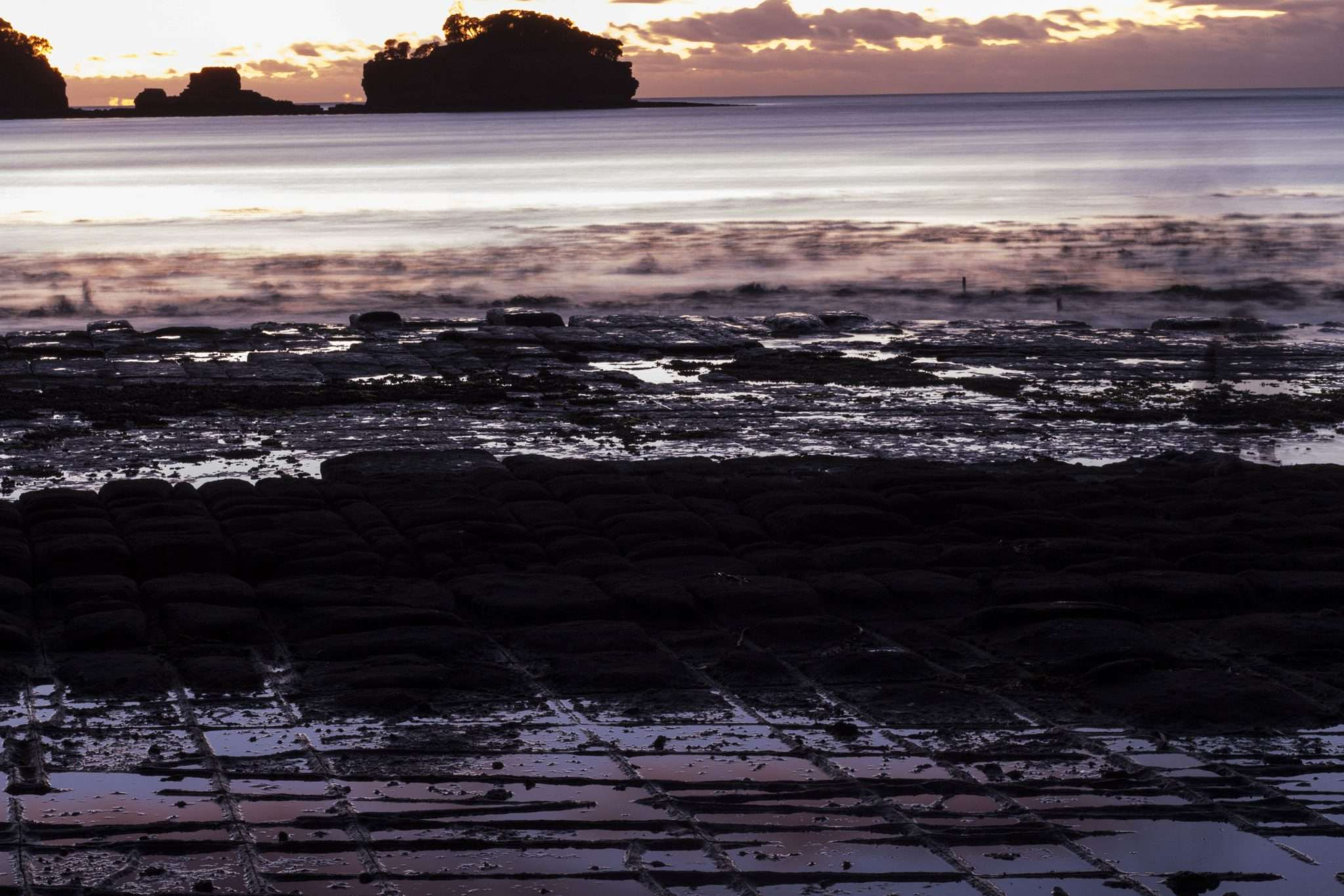 Sunrise at Tessellated Pavement
