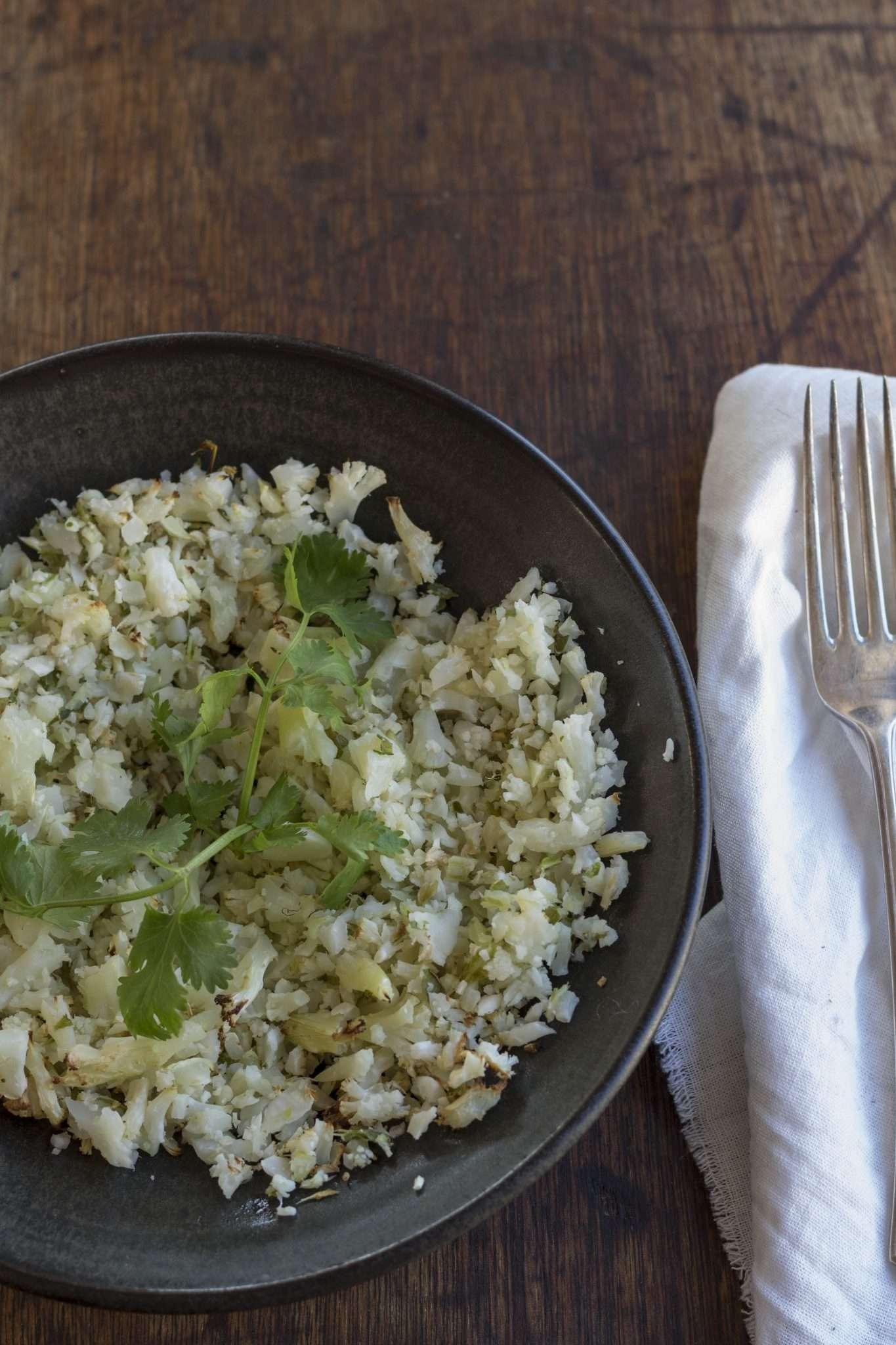"""Arwen's Roasted Cauliflower """"Rice"""""""