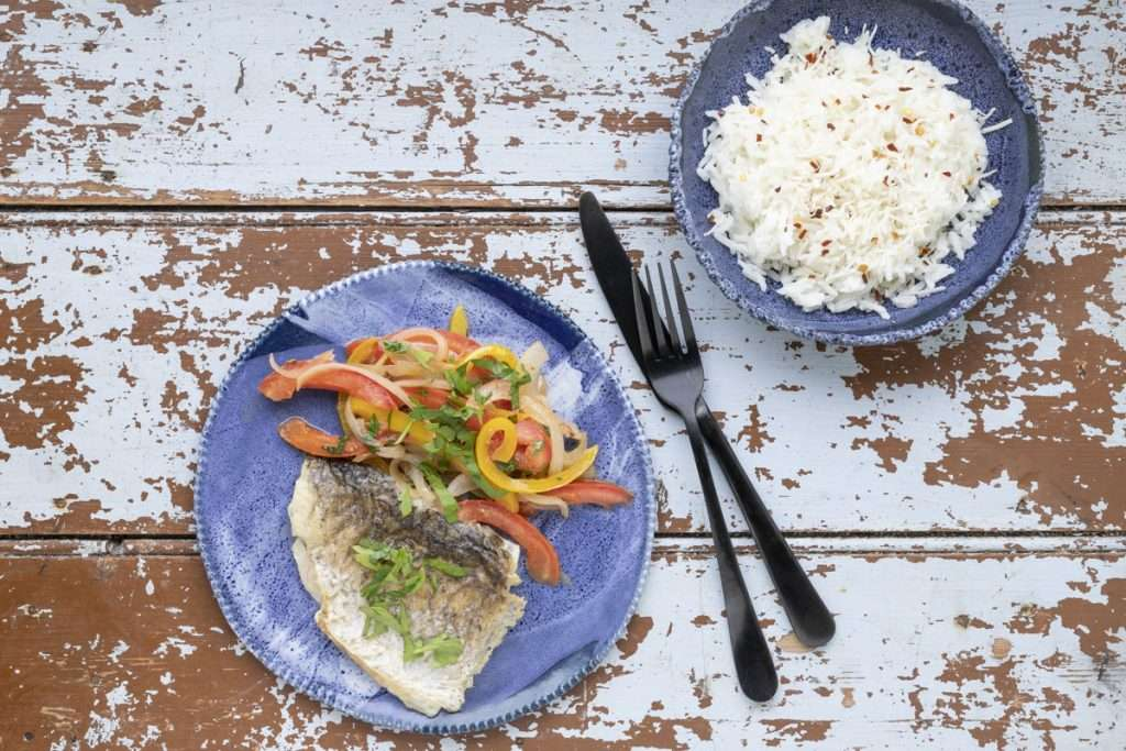 Arwen's Thermo Pics | Hobart Thermomix Consultant | Barramundi Escabeche with Coconut Rice