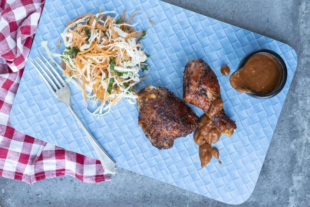 Arwen's Thermo Pics | Hobart Thermomix Consultant -Barbeque Chicken with Smoky Sauce & Coleslaw