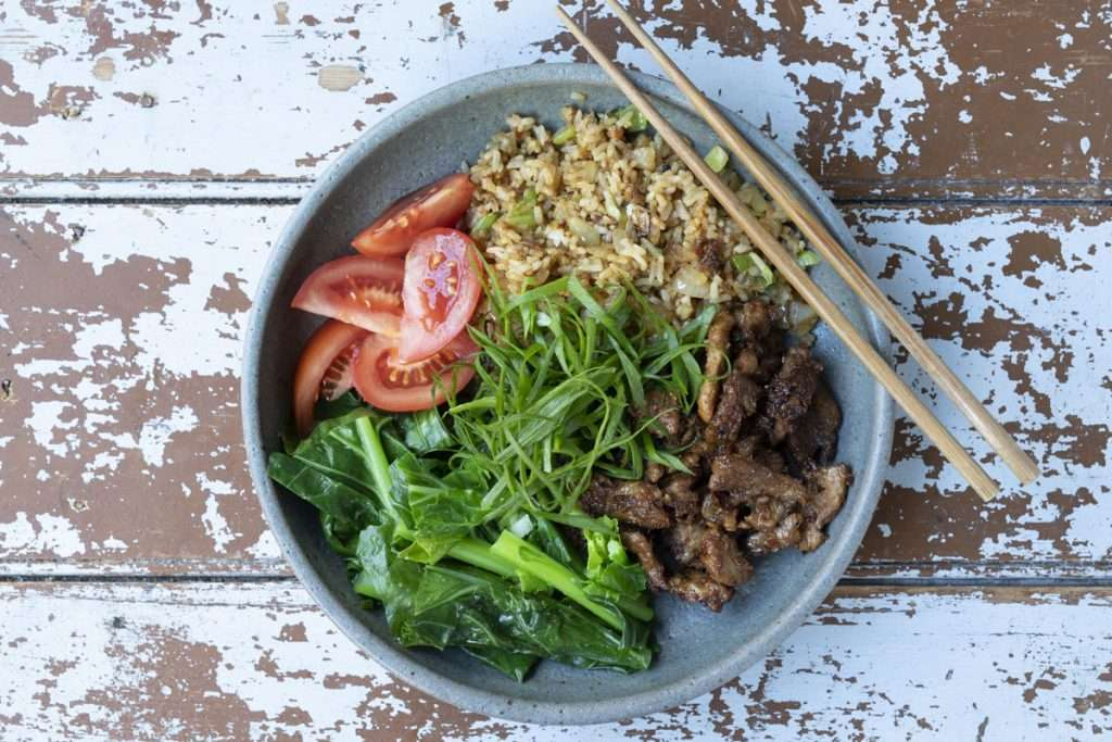 Arwen's Thermo Pics | Hobart Thermomix Consultant - Lemongrass Marinated Pork with Fried Rice