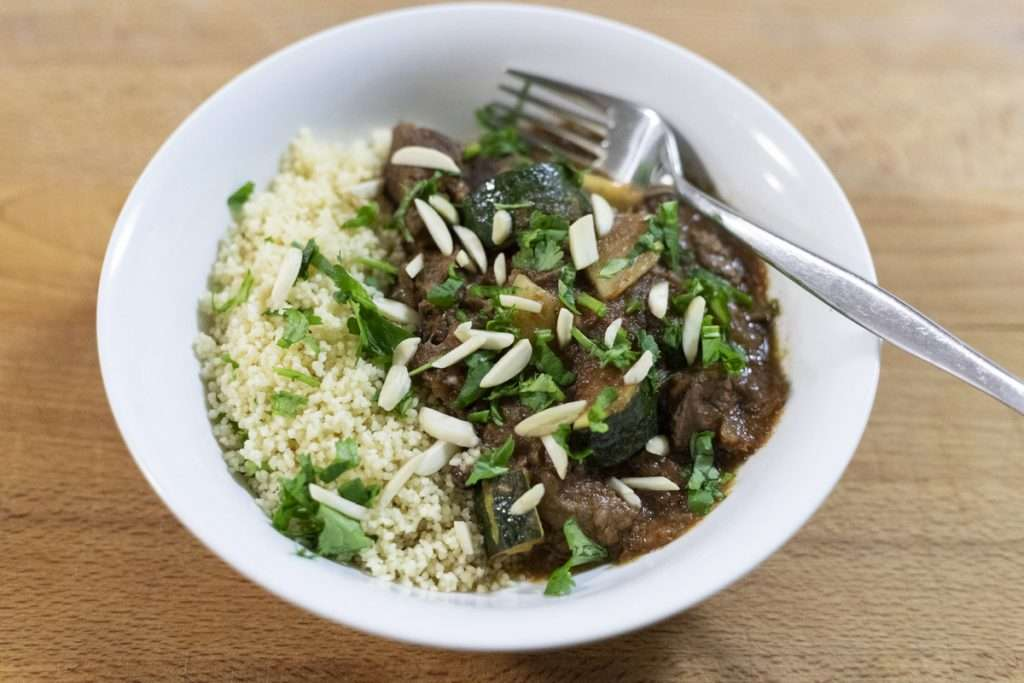 Arwen's Thermo Pics | Hobart Thermomix Consultant - Lamb Tagine with Almond, Pear & Couscous