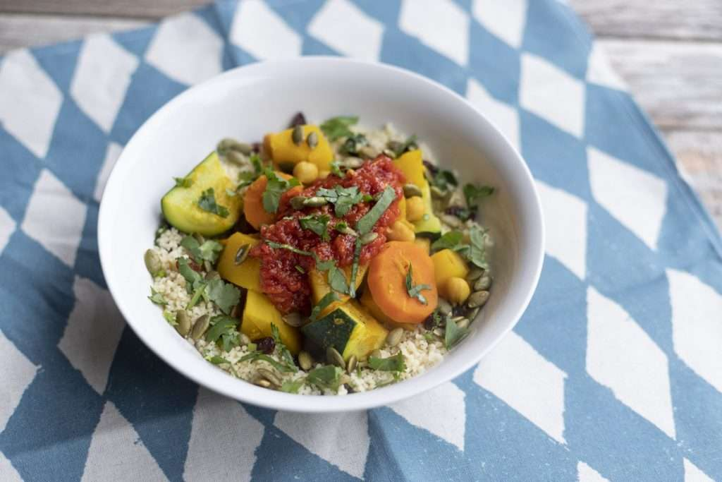 Arwen's Thermo Pics | Hobart Thermomix Consultant - Fragrant Seven Vegetables with Spiced Couscous