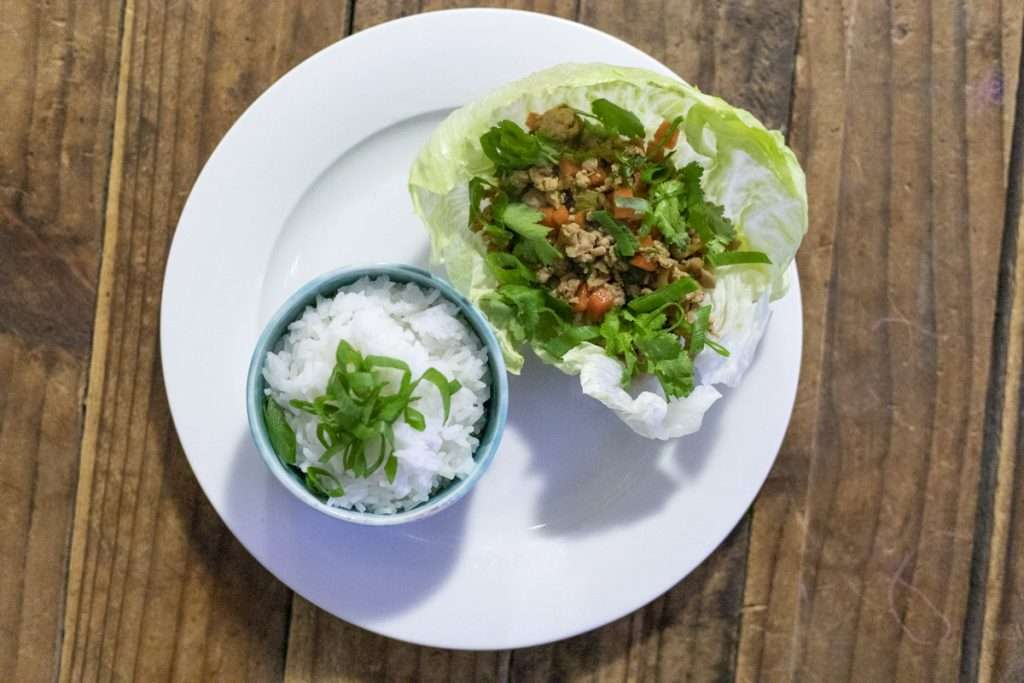 Arwen's Thermo Pics | Hobart Thermomix Consultant - Chicken Lettuce Cups with vegetables, Water Chestnuts & Hoisin
