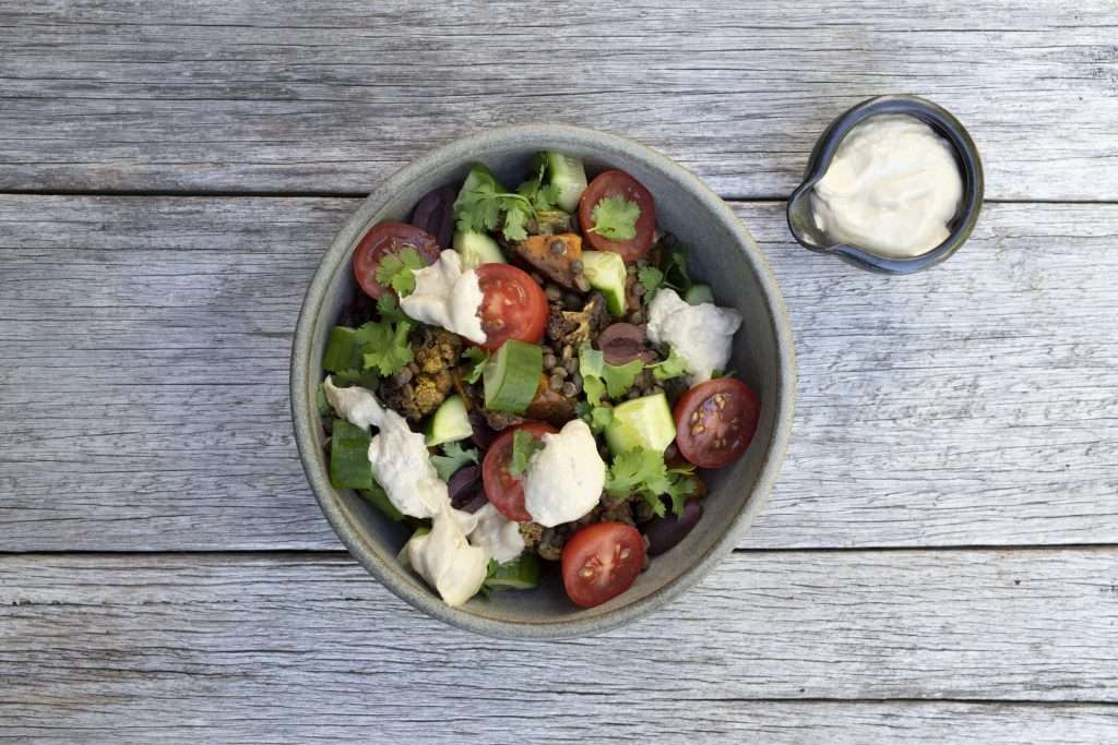 Arwen's Thermo Pics | Hobart Thermomix Consultant | Lemony Tahini Dressing with Sweet Potato Salad