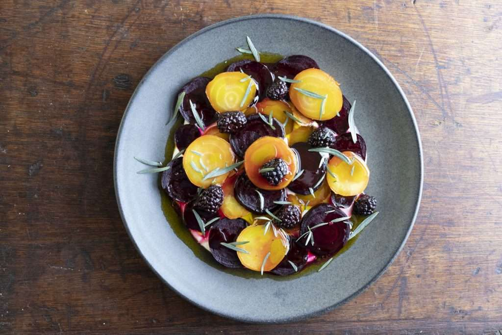 Arwen's Thermo Pics | Hobart Thermomix Consultant - Salt-baked Beetroot with Macadamia & Blackberries