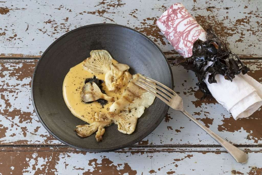Arwen's Thermo Pics | Hobart Thermomix Consultant - Chargrilled Oyster Mushrooms with Wakame Sabayon