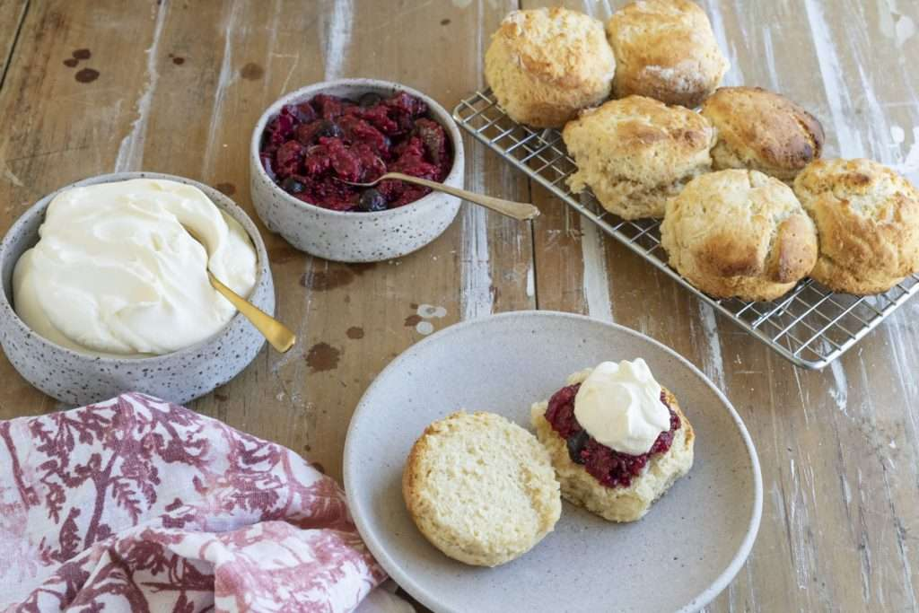 Arwen's Thermo Pics | Hobart Thermomix Consultant - Scones with Berry Chia Jam