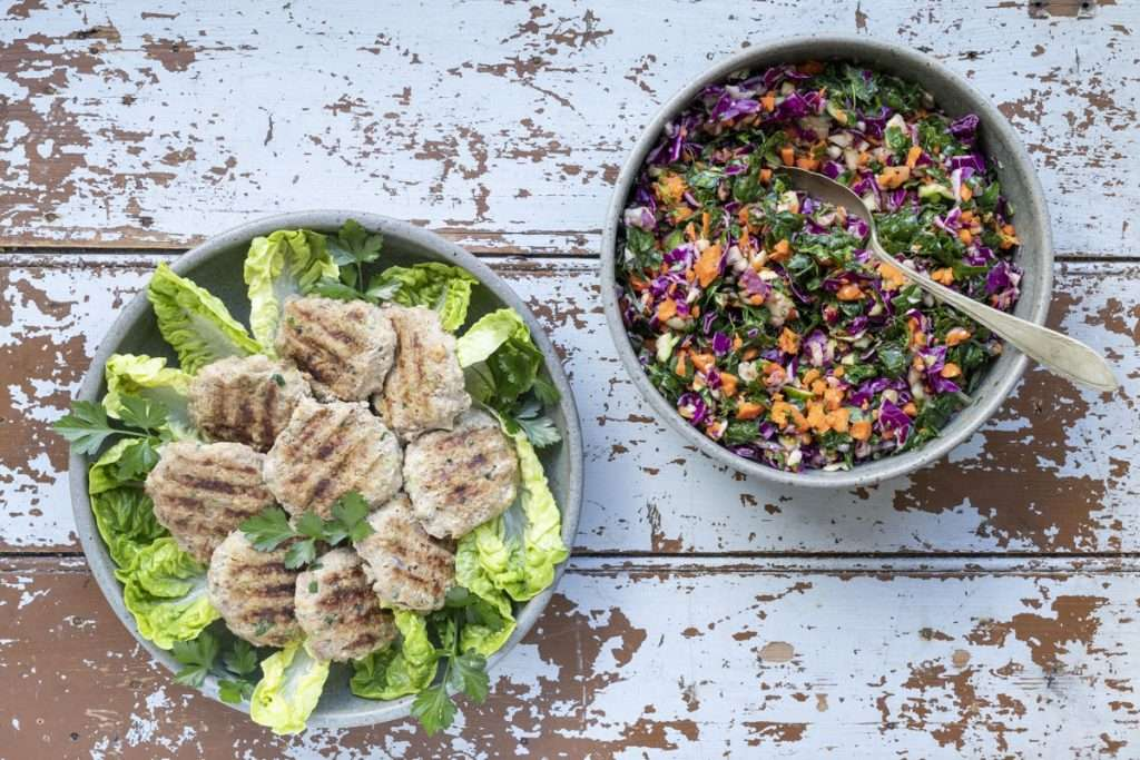 Arwen's Thermo Pics | Hobart Thermomix Consultant - Turkey Rissoles & Kale Slaw