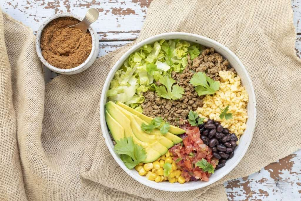 Arwen's Thermo Pics | Hobart Thermomix Consultant - Turkey Taco Salad Bowl