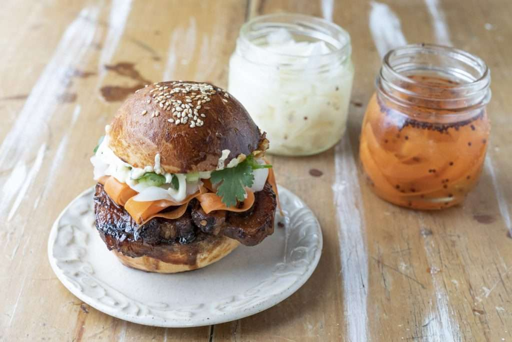 Arwen's Thermo Pics | Hobart Thermomix Consultant - Barbecued Soy Caramel Pork Belly Toasted Banh Mi