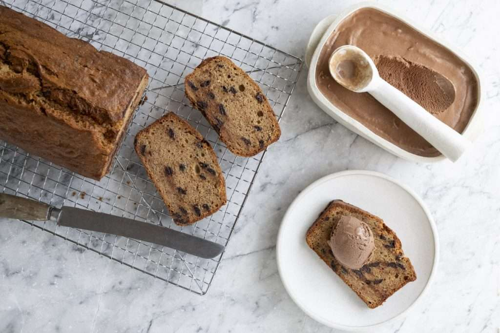 Arwen's Thermo Pics | Hobart Thermomix Consultant - Banana, Chocolate & Mango Bread with Chocolate Ice Cream