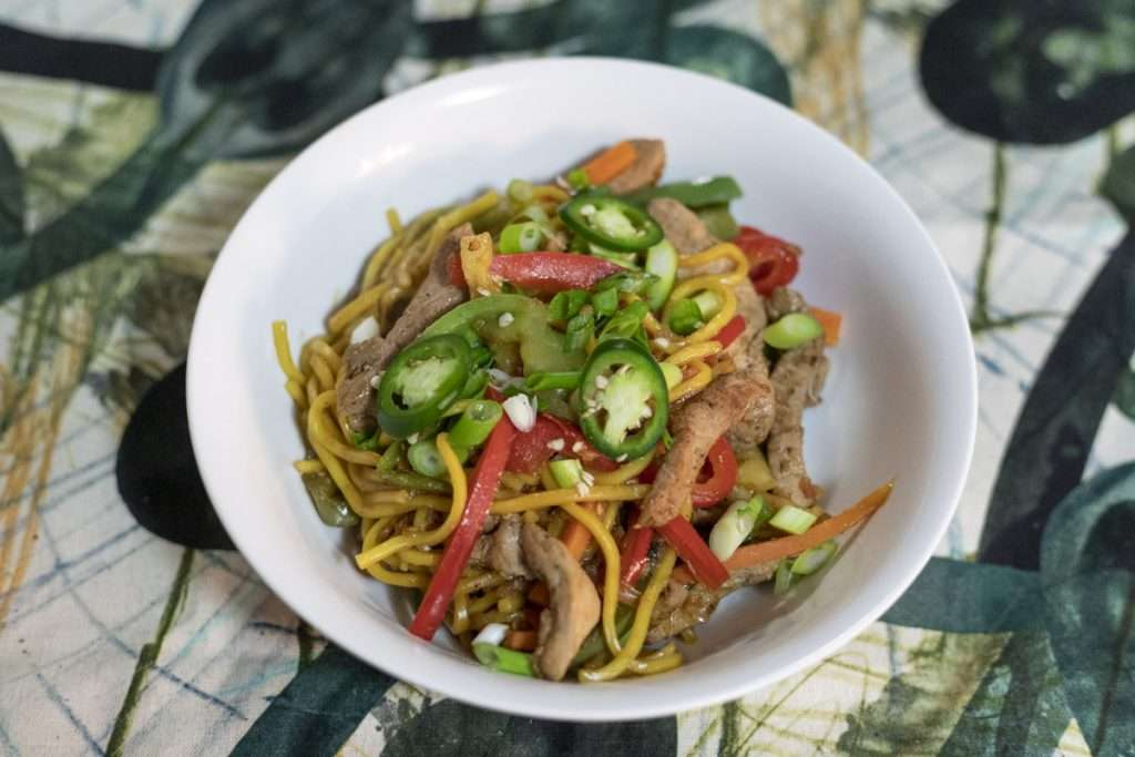 Arwen's Thermo Pics | Hobart Thermomix Consultant - Sweet & Sour Pork with Noodles & Sauteed Vegetables