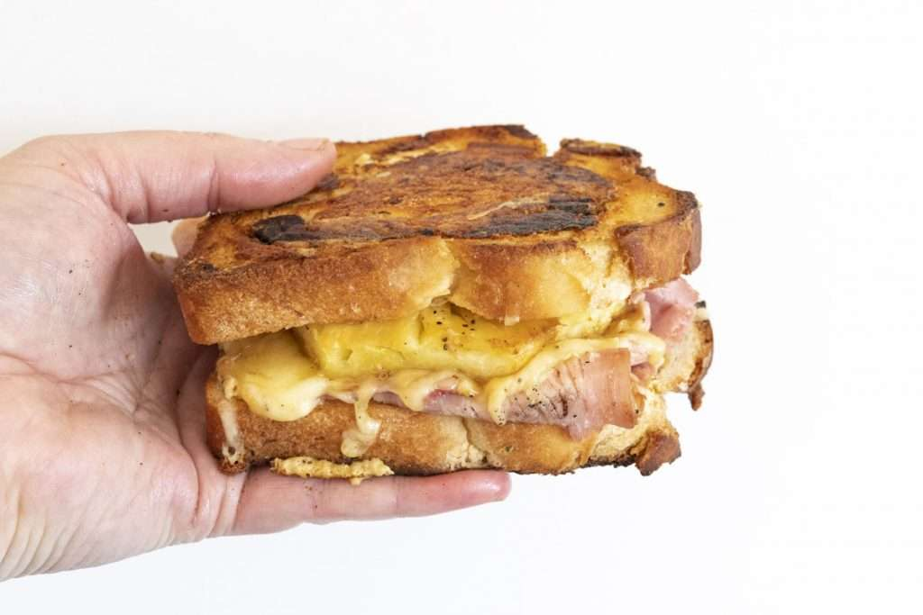 Arwen's Thermo Pics | Hobart Thermomix Consultant - Boxing Day Toastie: Ham, Mustard, Grilled Pineapple & Cheddar