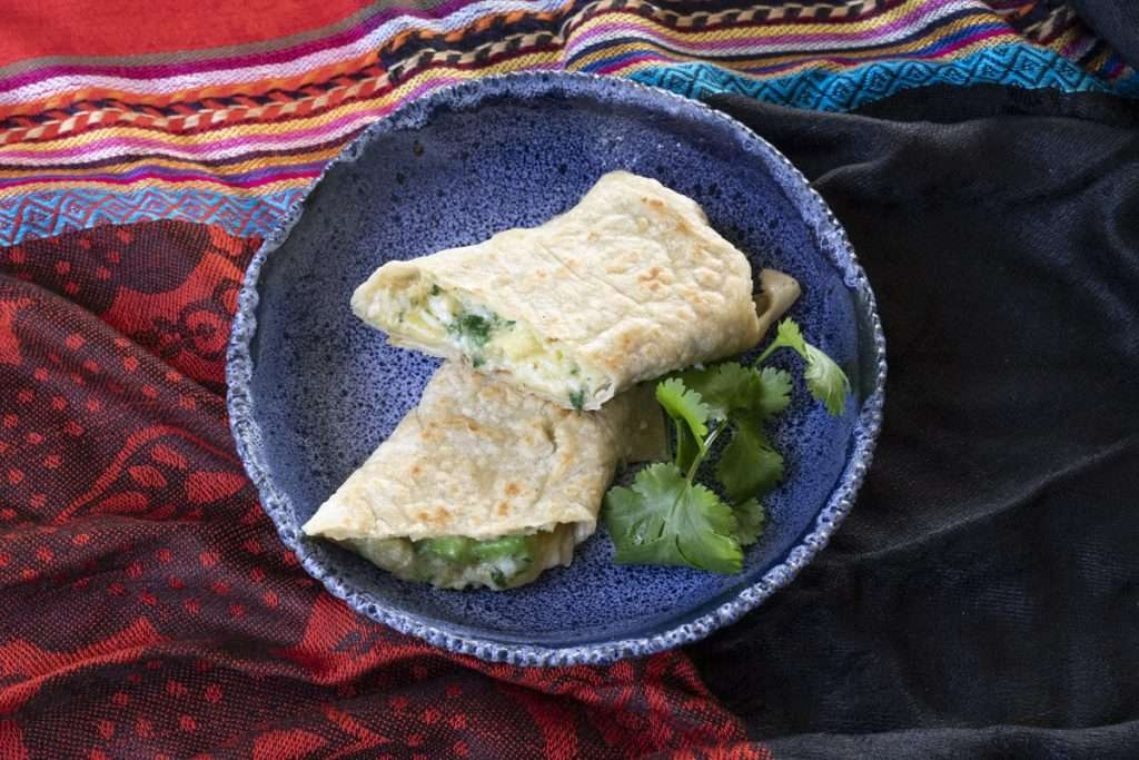 Arwen's Thermo Pics | Hobart Thermomix Consultant - Toasted Breakfast Burrito with Scrambled Egg & Avocado