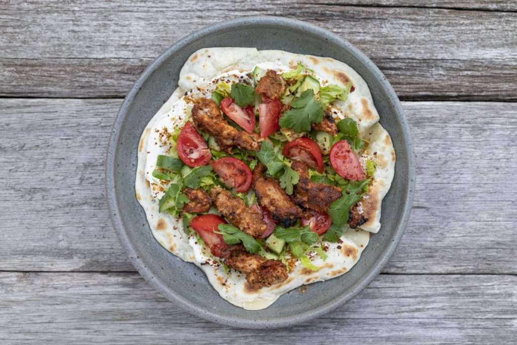Arwen's Thermo Pics | Hobart Thermomix Consultant - Chicken Doner Kebab with Za'atar Labneh