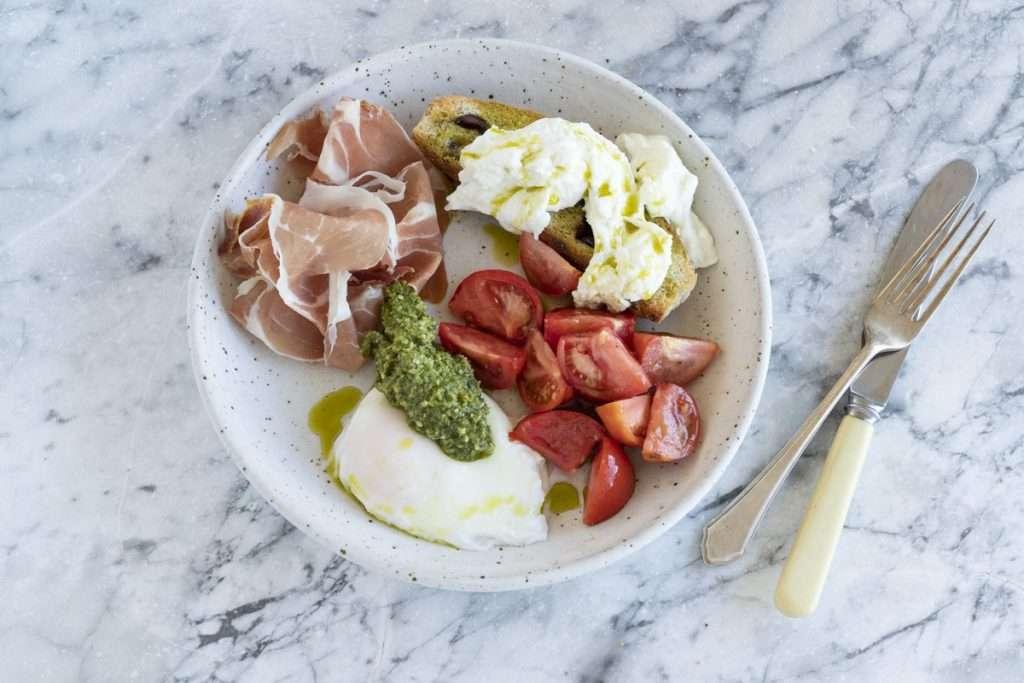 Arwen's Thermo Pics | Hobart Thermomix Consultant - Green Eggs & Ham with Tomato & Fresh Mozzarella