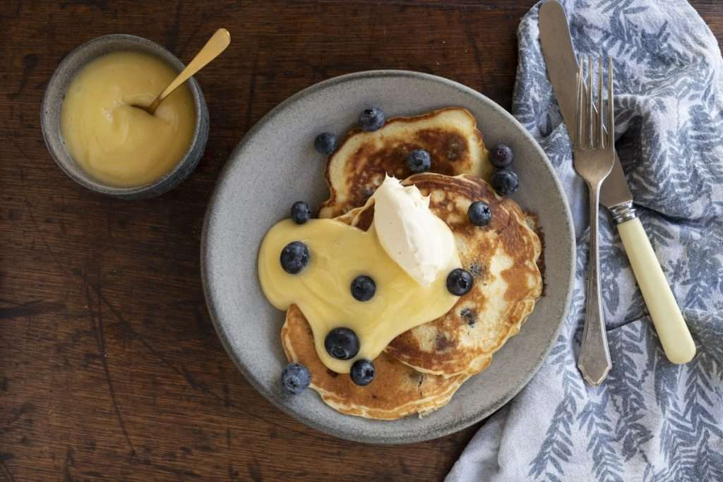 Arwen's Thermo Pics | Hobart Thermomix Consultant - Buttermilk Pancakes with Lemon & Blueberries