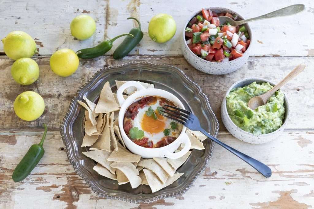 Arwen's Thermo Pics | Hobart Thermomix Consultant - Mexican-Style Baked Eggs with Pico de Gallo & Guacamole