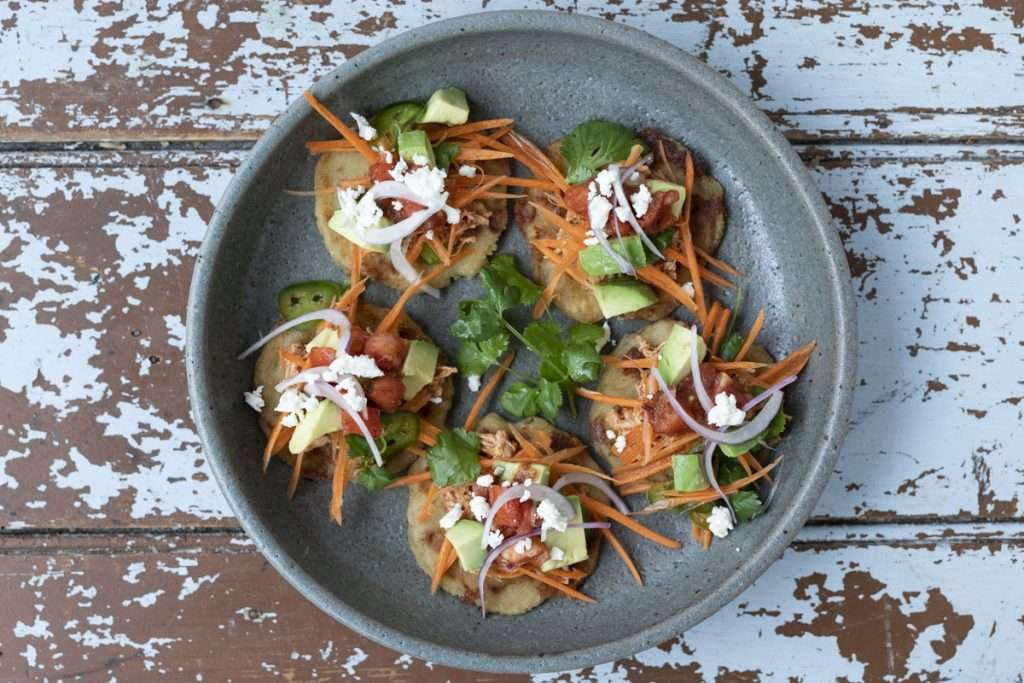 Arwen's Thermo Pics | Hobart Thermomix Consultant - Cheese & Chicken Arepas with Avocado & Tomato Salsa