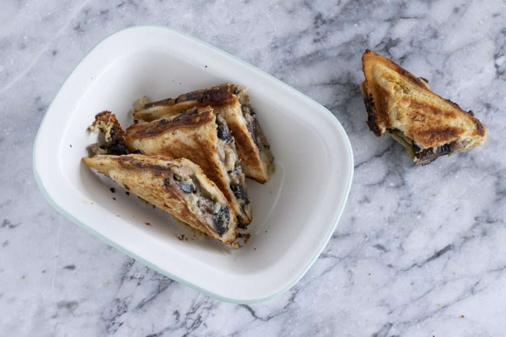 Arwen's Thermo Pics | Hobart Thermomix Consultant - Cheesy Polenta, Wild Mushrooms & Thyme Jaffle