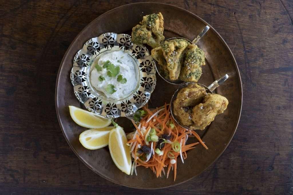 Arwen's Thermo Pics | Hobart Thermomix Consultant - Cauliflower & Broccoli Pakora with Coriander Yoghurt