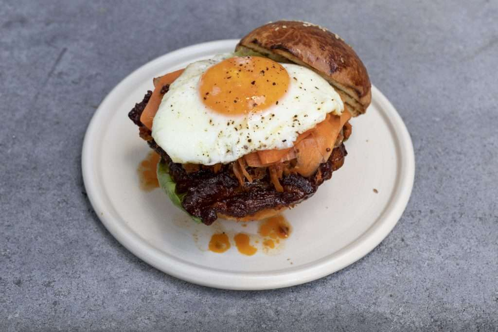 Arwen's Thermo Pics | Hobart Thermomix Consultant - Marinated Korean Pork Belly with Kimchi & Fried Egg