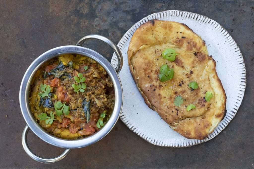 Arwen's Thermo Pics | Hobart Thermomix Consultant - Butternut Dahl with Tempered Spices & Homemade Garlic Naan