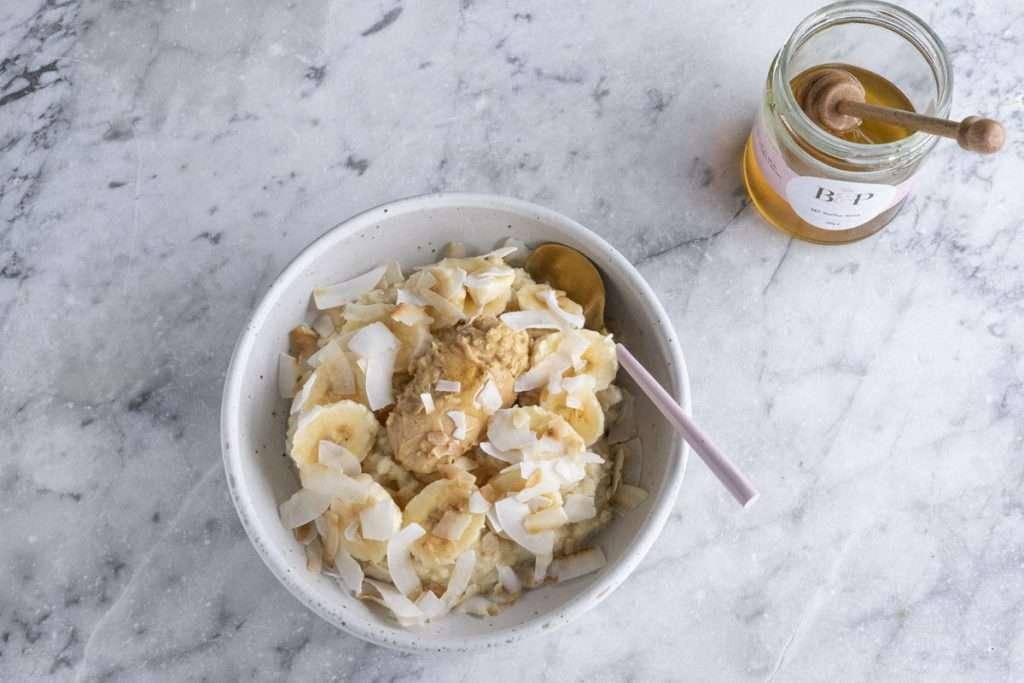 Arwen's Thermo Pics | Hobart Thermomix Consultant - Quinoa Porridge with Peanut Butter Banana & Coconut