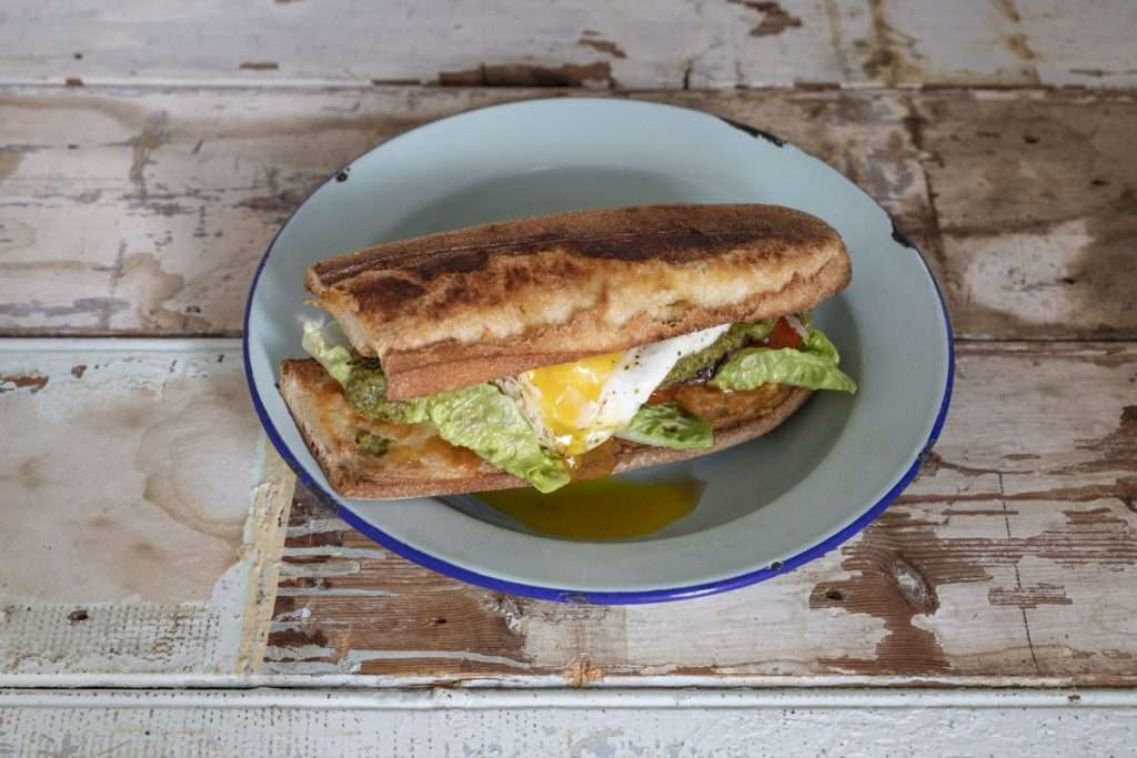 Arwen's Thermo Pics | Hobart Thermomix Consultant - Steak, Chimichurri, Cheese & Egg Toasted Baguette