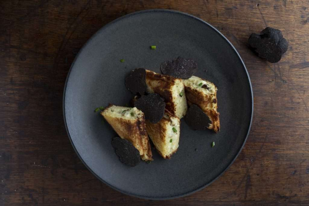 Arwen's Thermo Pics | Hobart Thermomix Consultant - Roasted Cauliflower Cheese Jaffle with Fresh Truffle