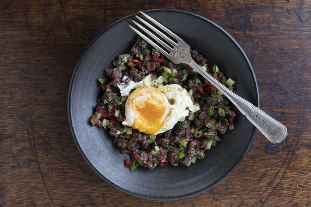 Arwen's Thermo Pics | Hobart Thermomix Consultant - Thai Style Tartare with Fried Egg
