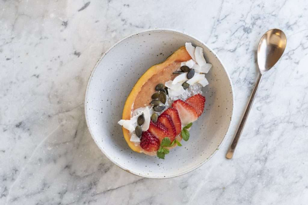 Arwen's Thermo Pics | Hobart Thermomix Consultant - Papaya Smoothie Bowl with Chia