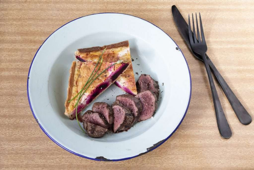 Arwen's Thermo Pics | Hobart Thermomix Consultant - Grilled Wallaby with a Roast Beetroot, Roast Garlic & Goats Cheese Tart