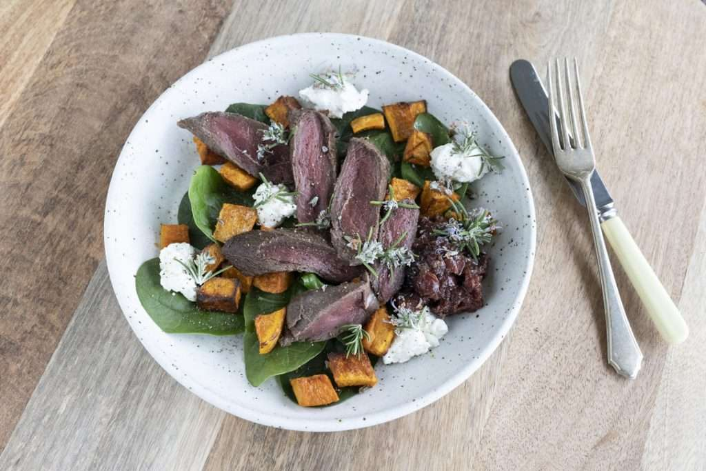 Arwen's Thermo Pics | Hobart Thermomix Consultant - Wallaby Fillet with Goats Cheese & Cherry Chutney